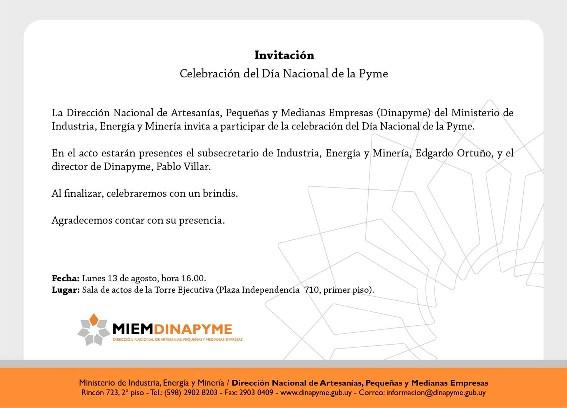 invitación dia de la pyme